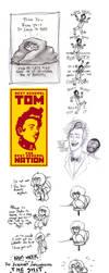 Tumblr Sketchdump 1 by RosieHasASoul