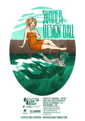 Summer Design Ball Poster by RosieHasASoul