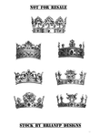 Pre-cut crowns .png stock images