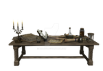 Alchemist prop 7 -Wizards table and accessories