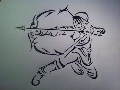 The legend of Zelda ~ Link Tattoo style  by iiramanii