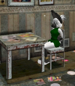 SL_Christyne (Bunny) Tied To Chair by Silkenvixen