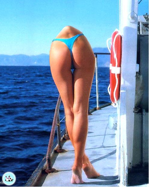 from Knox girl in bikini on boat