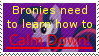 Calm down broinies stamp