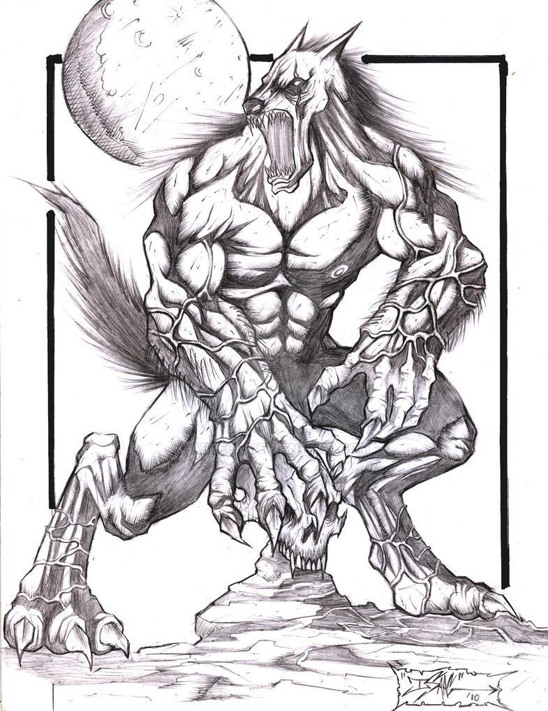 hombre lobo rrrggggt by abreck on DeviantArt
