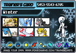 MicroDogWinter' s New Trainer Card by RiseJackFrost