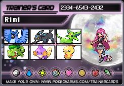 Rini's trainer card by RiseJackFrost