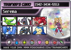 Serena's or Meatball head's Trainer card by RiseJackFrost