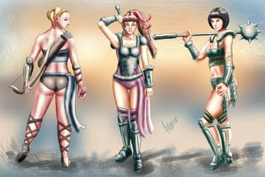 PowerPuff Girls as Gladiators