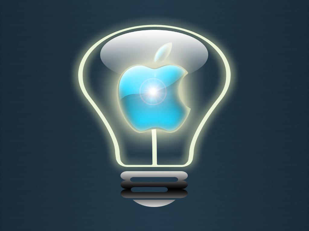 Apple Light Bulb by WolfvanWhite