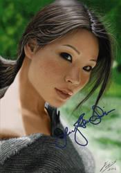 Lucy Liu digital paint by fabius72