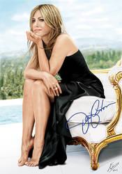 Jennifer Aniston digital paint by fabius72