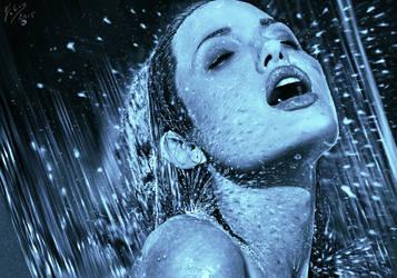 Angelina Jolie digital paint by fabius72