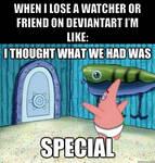 Lose a watcher or friend