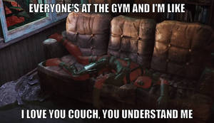 Shoutout to my couch