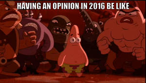 No opinions allowed