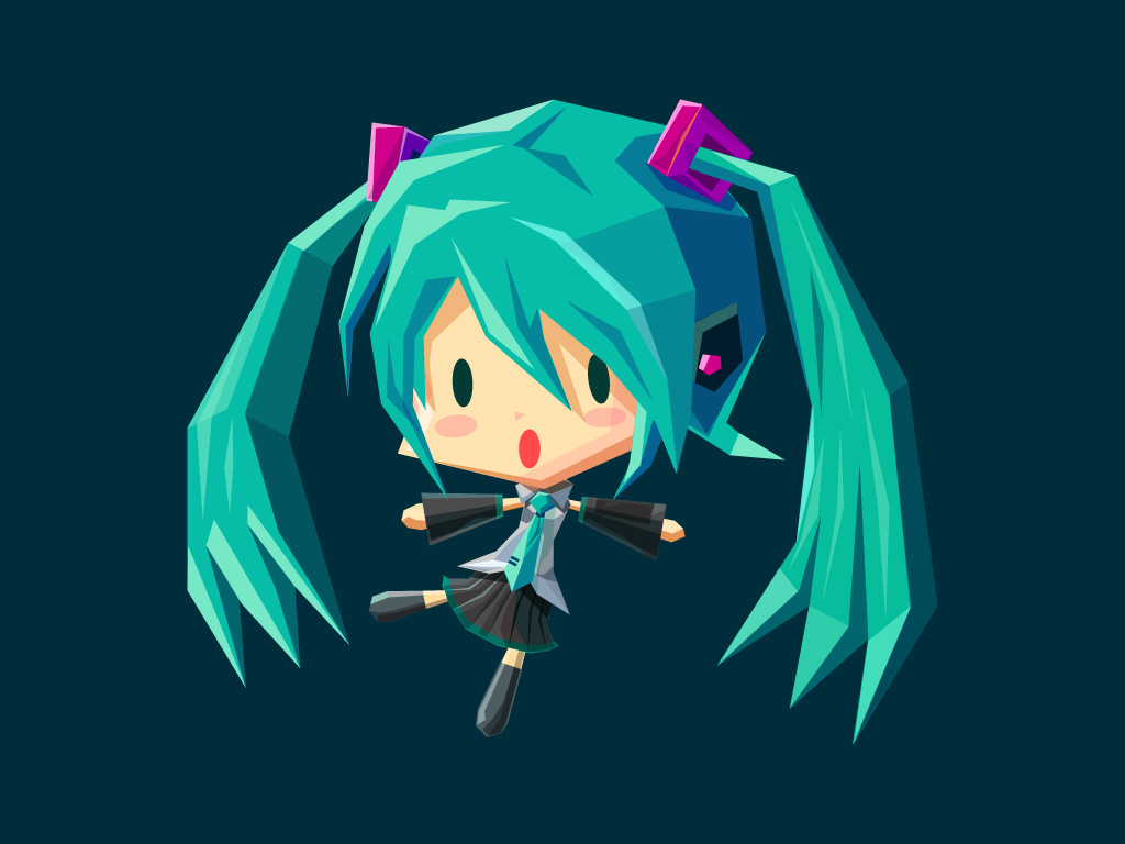Miku Hatsune by polygonta