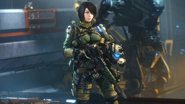 Rachel but in Pulse Blade Armor