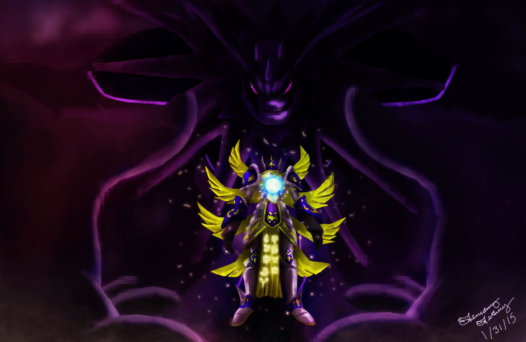 Seraphimon Wallpaper Holy Confrontation (Ch...