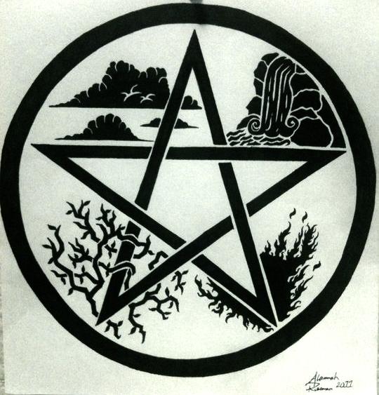 the gallery for wiccan pentagram tattoo. Black Bedroom Furniture Sets. Home Design Ideas