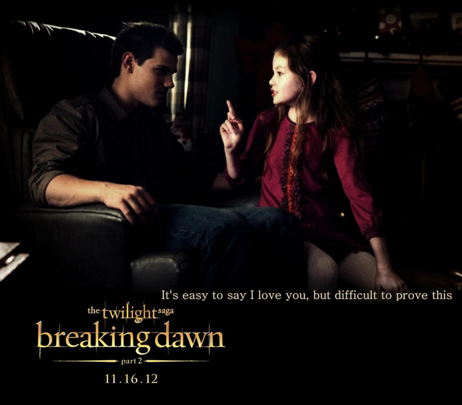breaking dawn part 2 poster Jacob and Renesmee by ...