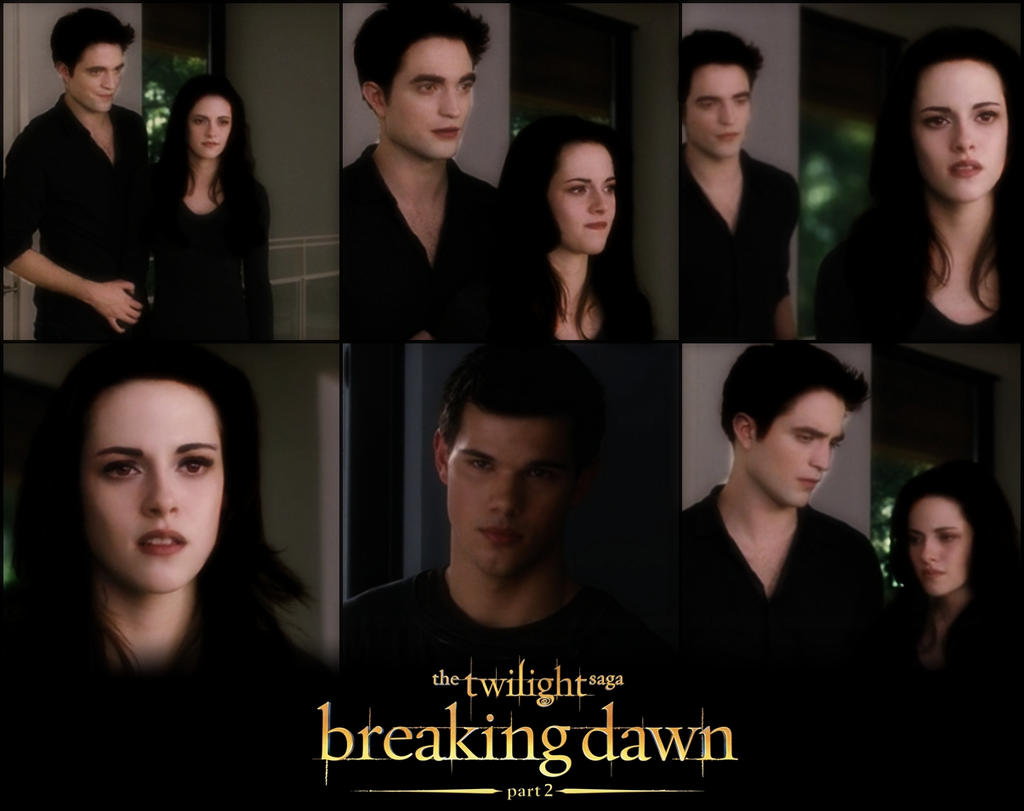 Breaking Dawn Part 2 Poster Bella Edward And Jacob by ... Bella And Edward Breaking Dawn Part 2 Cover Photo