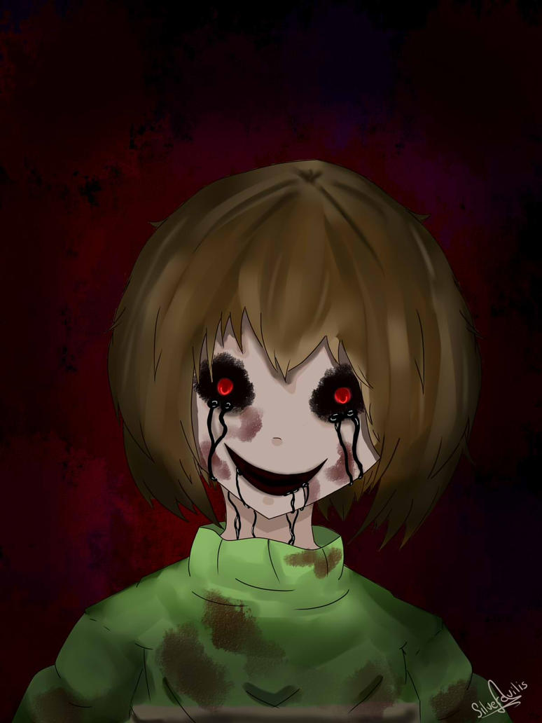 Chara creapy face by silverevilis