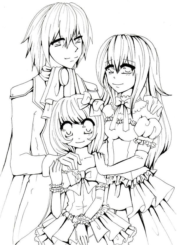 Anime Family Drawing Pictures to Pin on Pinterest - PinsDaddy
