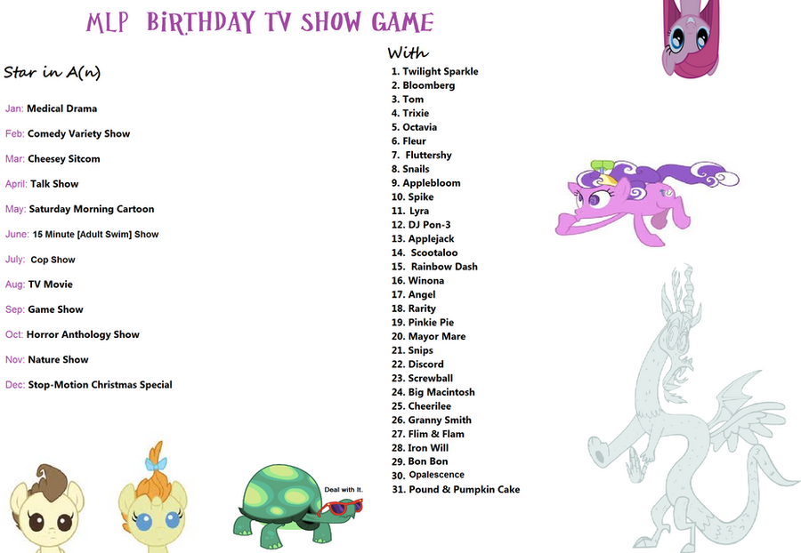 mlp birthday game by takoyamafan23 on deviantart