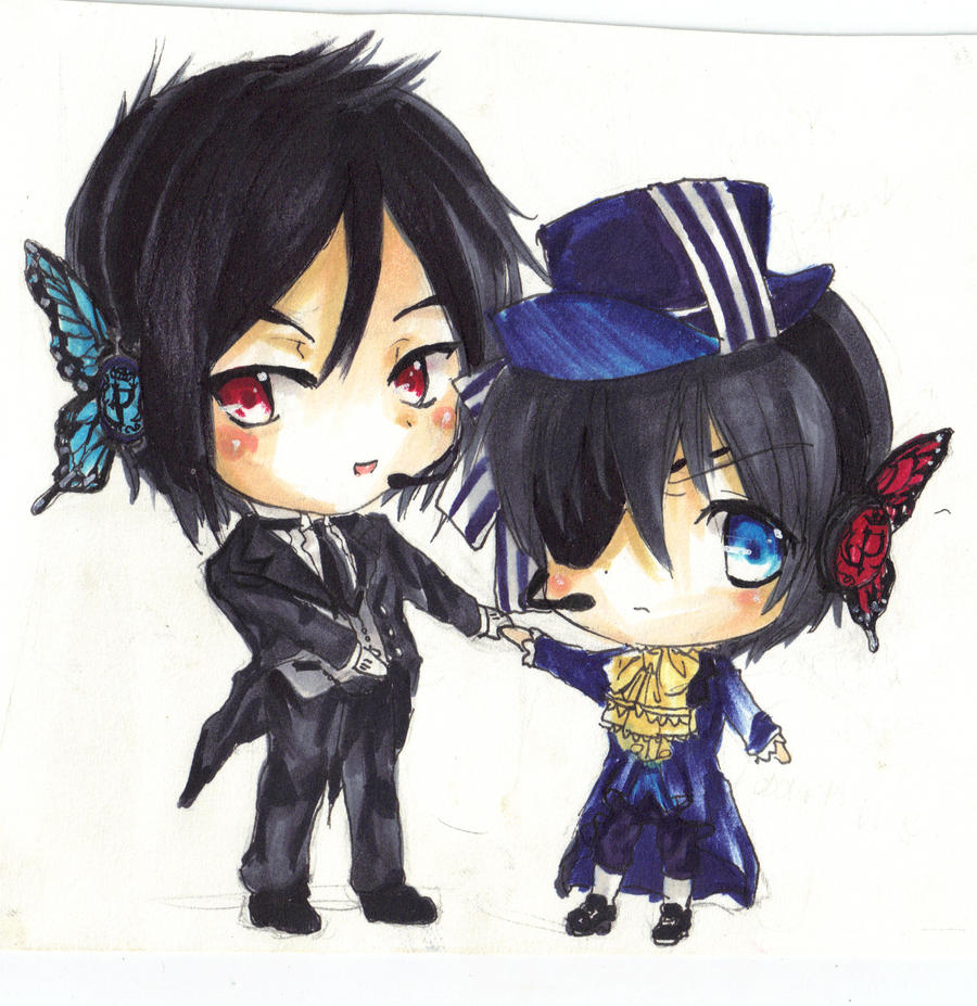 Ciel And Sebastian Chibi By Beatrice26154