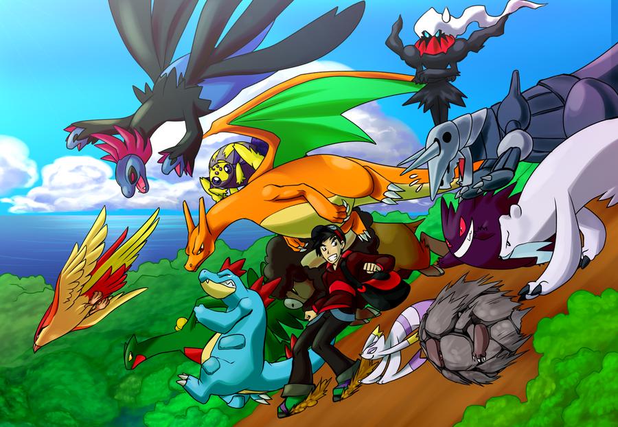 Pokemon team by laurelman on deviantart