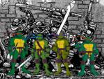 TMNT '08 wallpaper: All