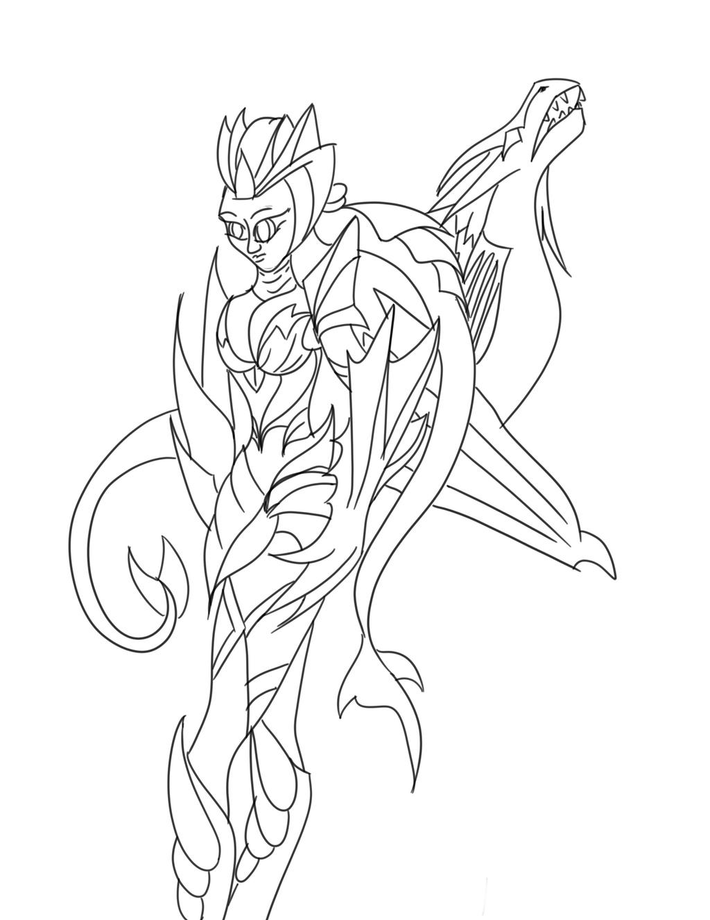 Ice Shyvana Coloring Book By Melusine Designs On DeviantArt