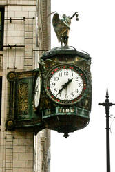 Father Time Clock in Chicago by Melusine-Designs