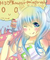 Happy b-day kawaii-paintbrush! by Asa-tan