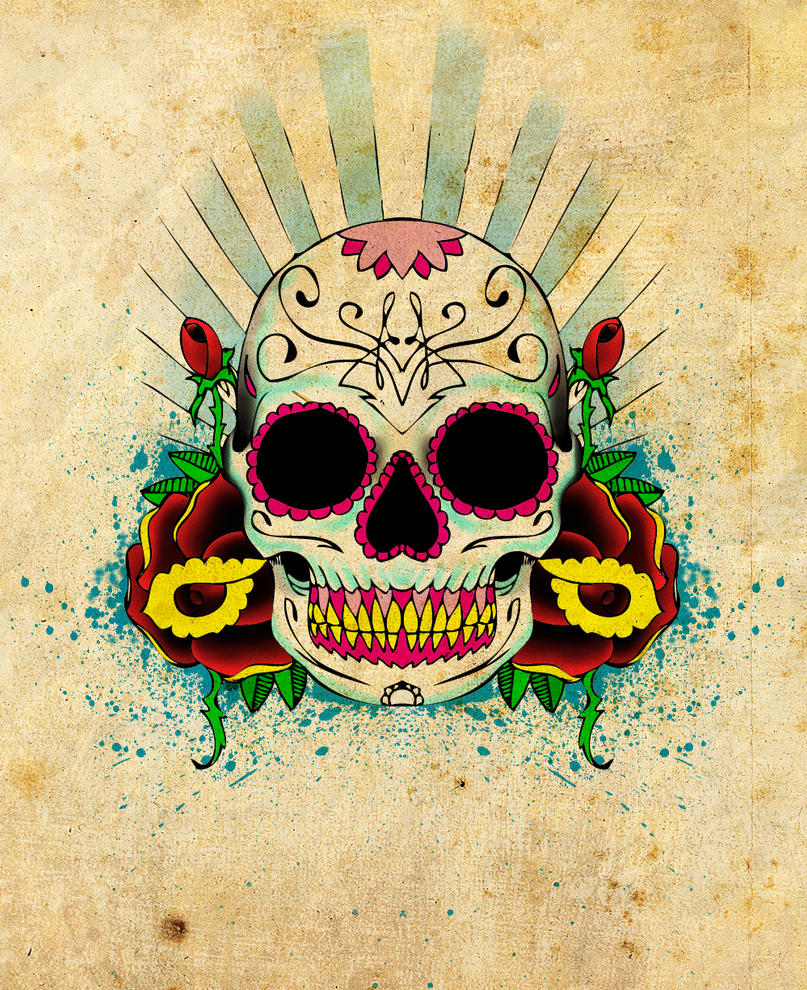 Mexican Skull Tattoo Design Picture 2