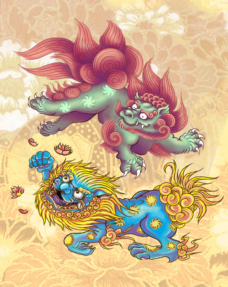 Foo Dogs by xfreakcorex