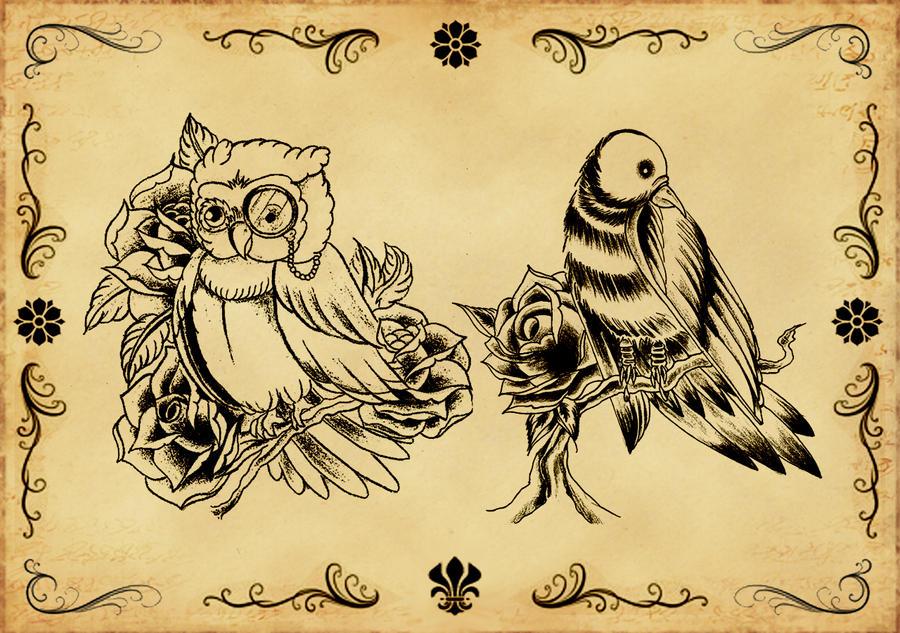 Tattoo flash 1 by xfreakcorex on DeviantArt