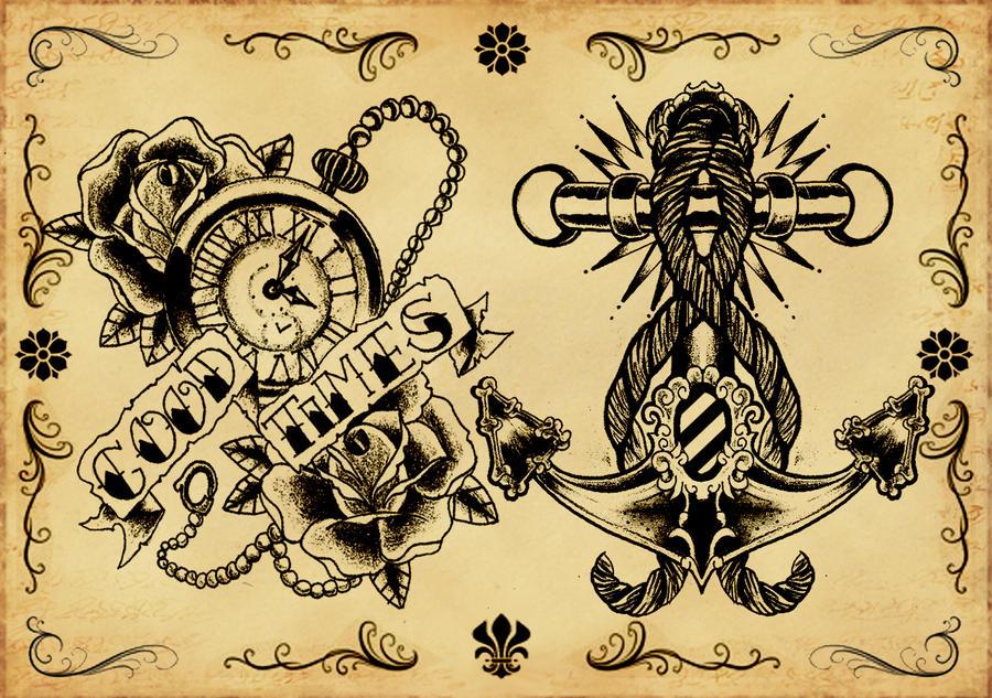 Tattoo flash 3 by xfreakcorex on DeviantArt