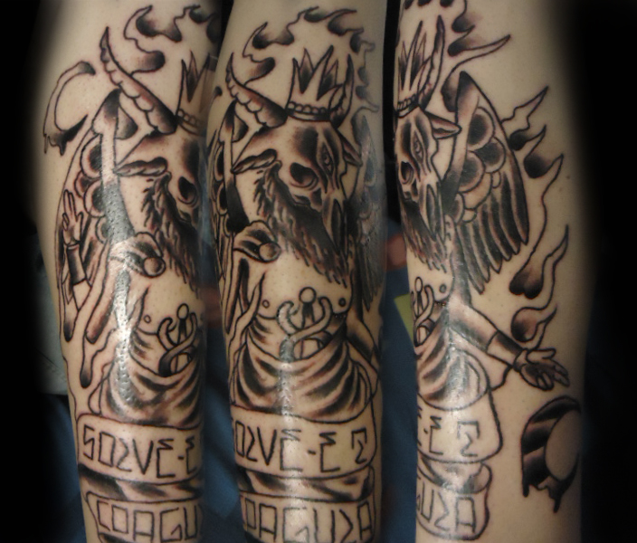 The gallery for baphomet goat for Baphomet tattoo meaning