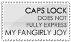 Fangirly Joy Stamp -- White by burnoutbright