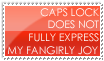 Fangirly Joy Stamp -- Red by burnoutbright