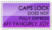Fangirly Joy Stamp -- Purple by burnoutbright