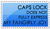 Fangirly Joy Stamp -- Blue by burnoutbright