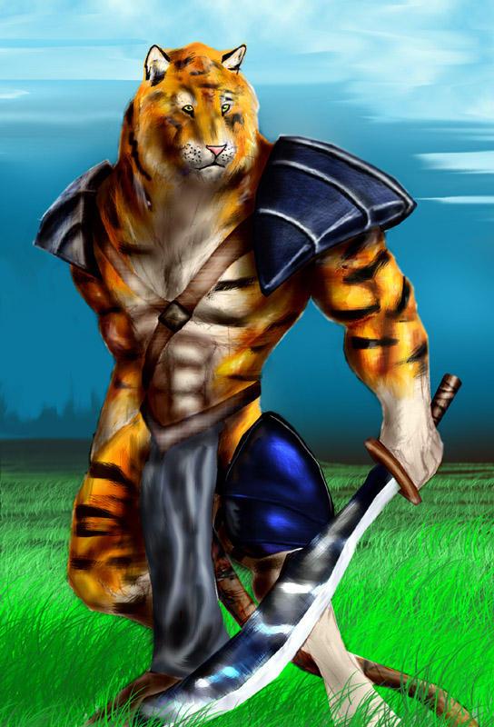 A orange tiger by rwolf