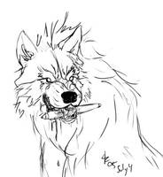 Wolf Stole my Wacom by rwolf
