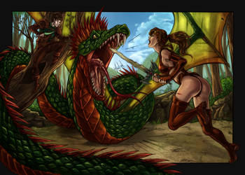 commission 28  -Marina  and Bardik by LadyDeddelit