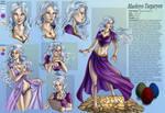 Commission 38 Maelerys character sheet