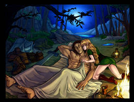 Commission 43- Tiri and Sigfrud by LadyDeddelit