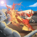 Blaziken, the blaze kicker